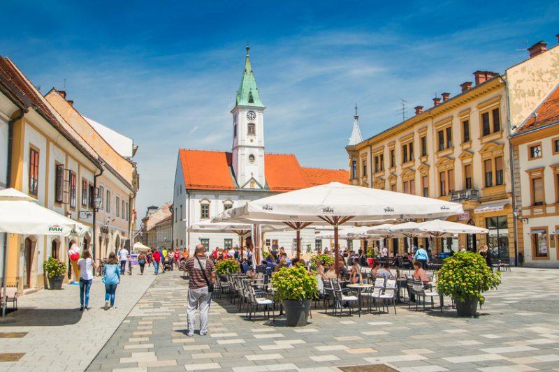 Varazdin Croatia and city, popular tourist place