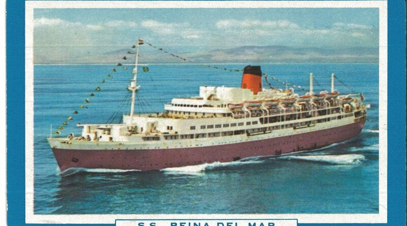A playing card from Jo Clough's first cruise in September 1964