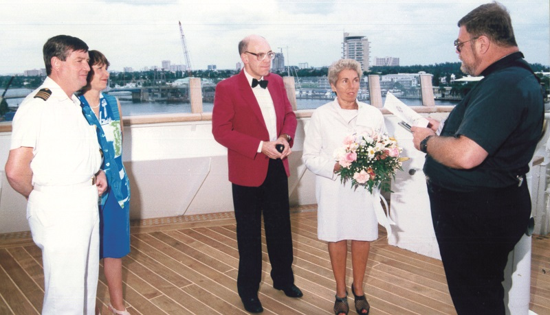 Marriage ceremony on Royal Princess in Fort Lauderdale