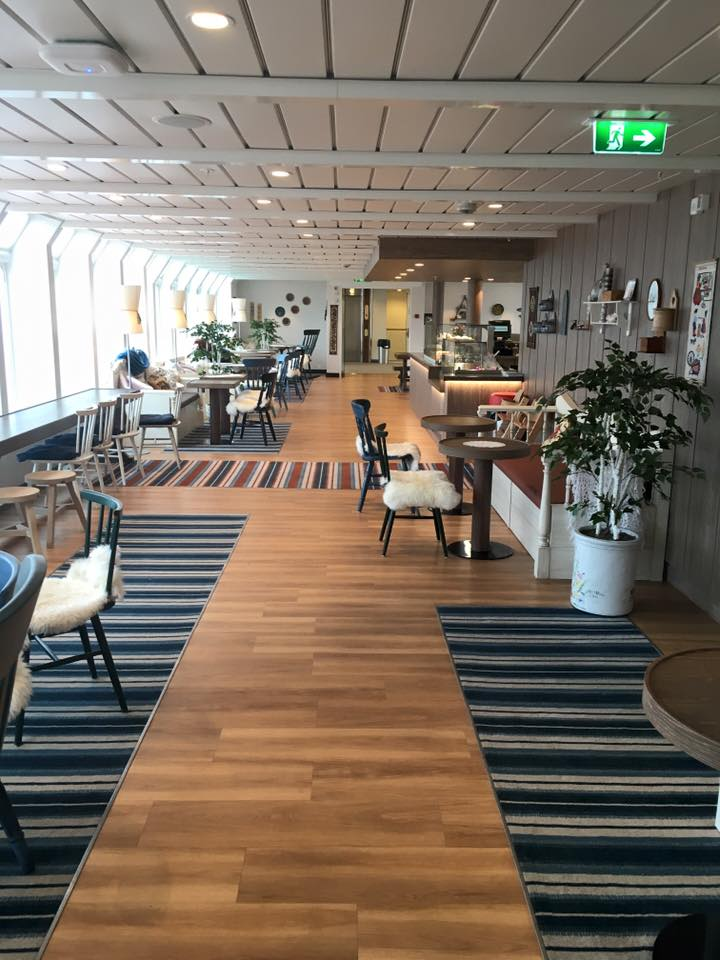 Multe Cafe on board MS Kong Harald