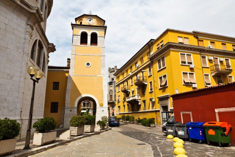 Bell Tower with Clock in Rijeka, Croatia