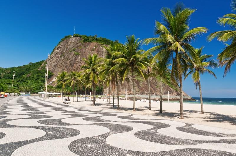 The famous Copacabana beach in Rio de Janeiro