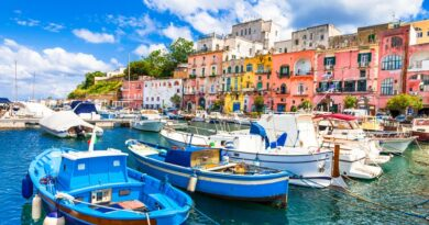 Beautiful Procida Island, Campania, Italy.