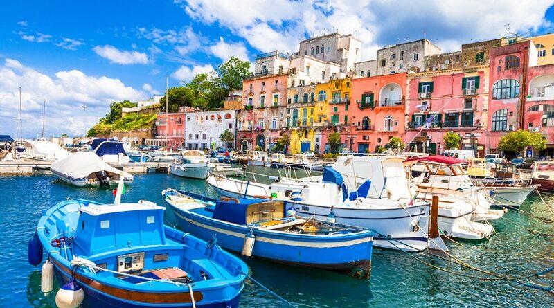 Beautiful Procida Island, Campania, Italy.