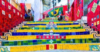Selaron stairway in Rio de Janeiro, Brazil
