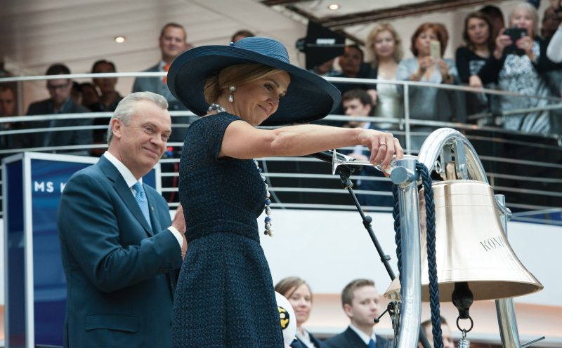 Queen Maxima participating in the ceremonial blessing