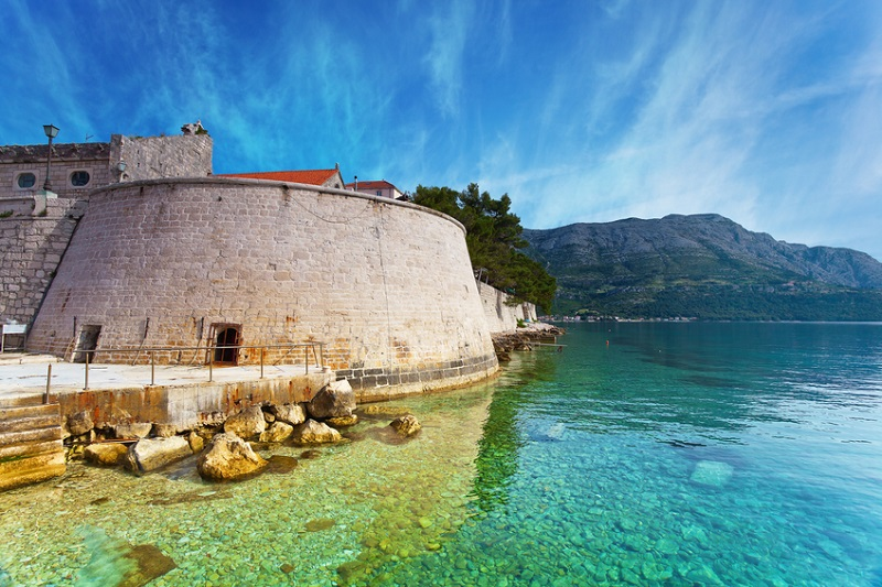 fortress in Korcula, Croatia