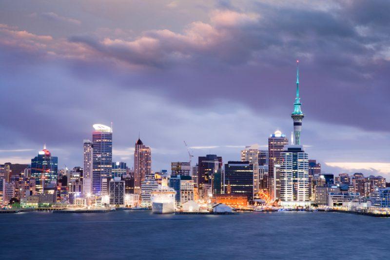 Auckland Skyline at twilight