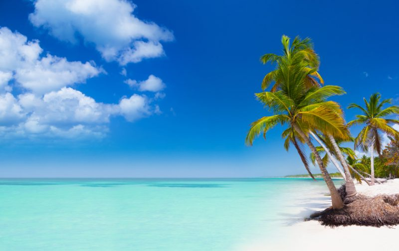 Tropical beach in Dominican Republic