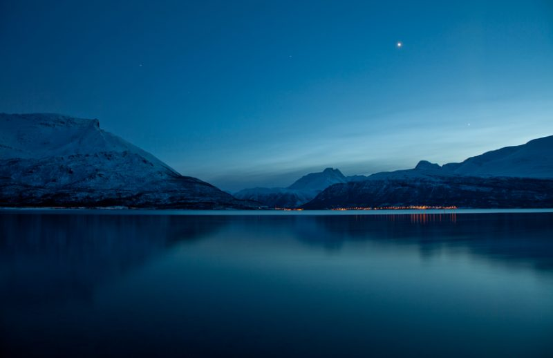 Arctic Norway Night Scene