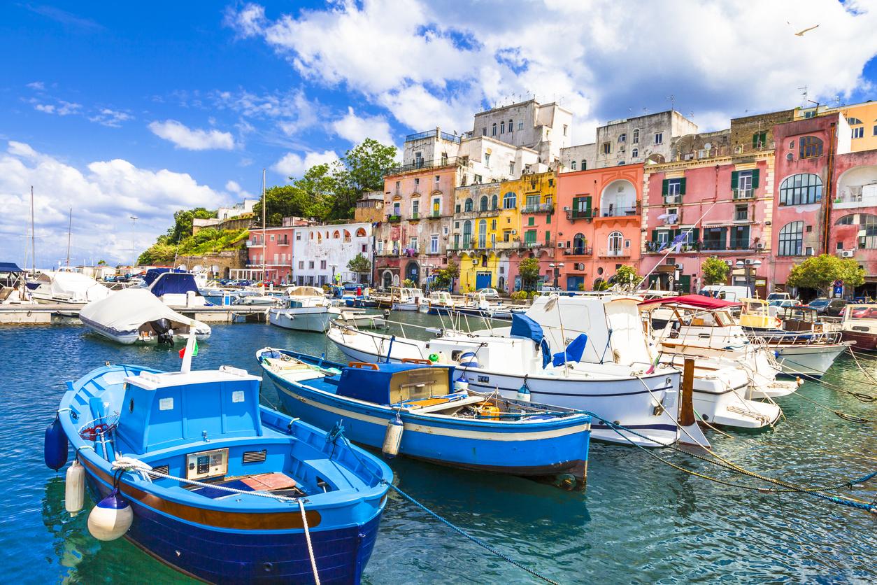 Beautiful Procida Island,Campania,Italy.