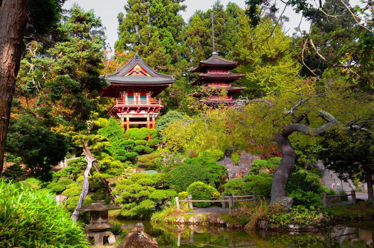 Pagodas in Japanese Tea Garden, San Francisco, California, USA