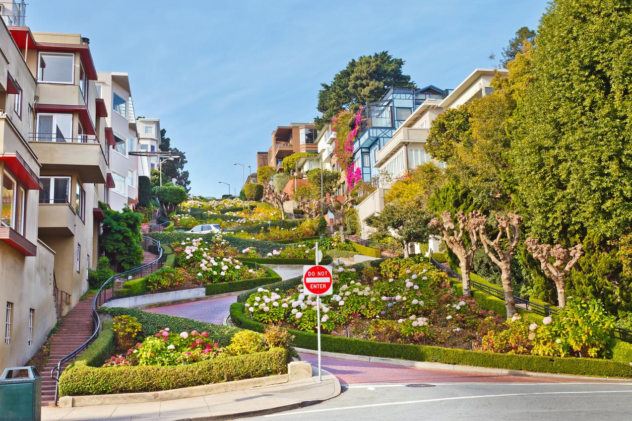 Famous Lombard Street, San Francisco, California