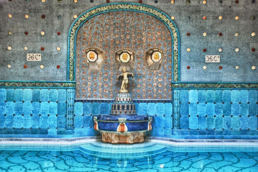 Famous Gellert bath, Budapest