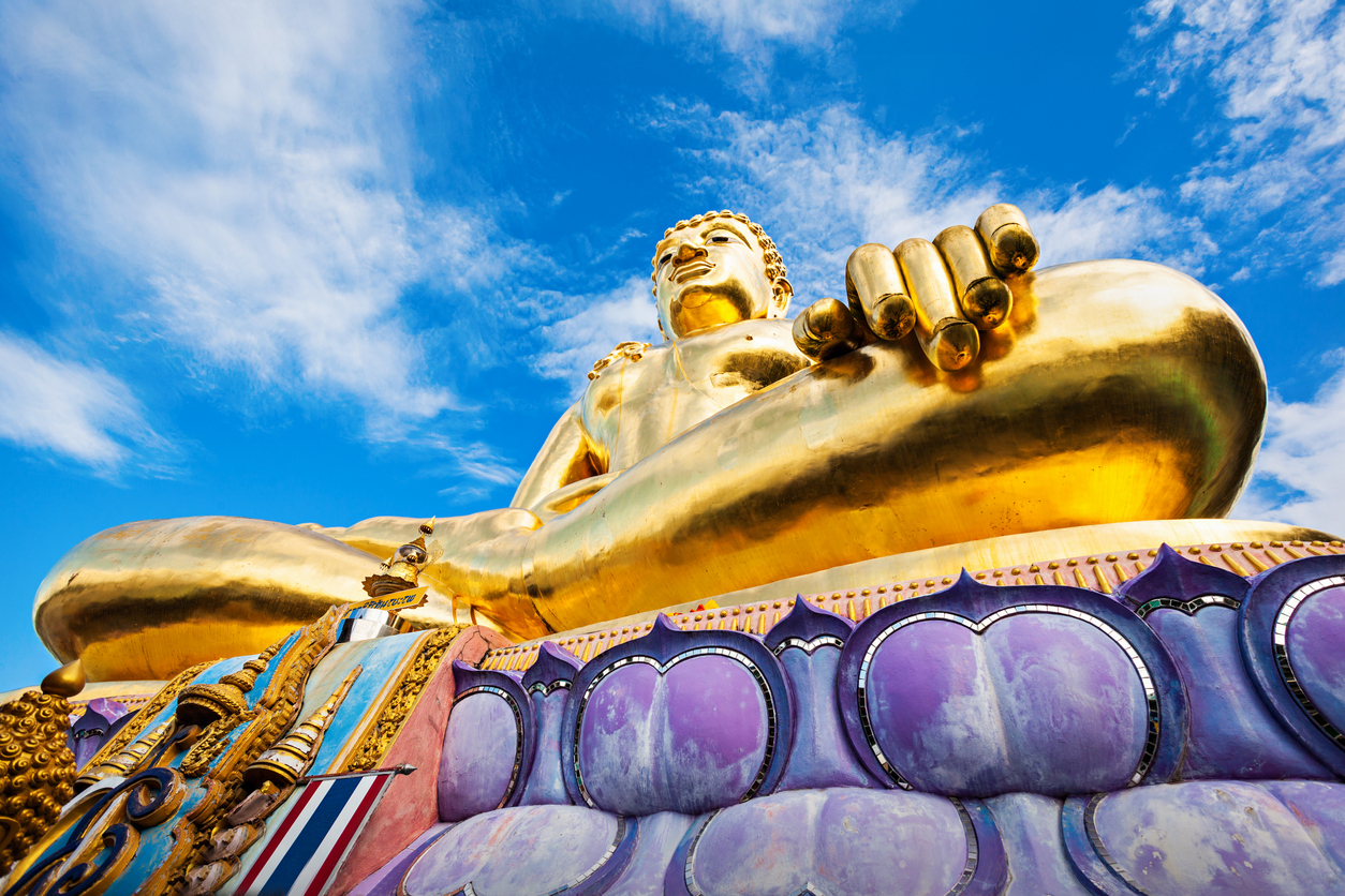 Buddha statue at Golden Triangle, Chiang Rai Province, Thailand