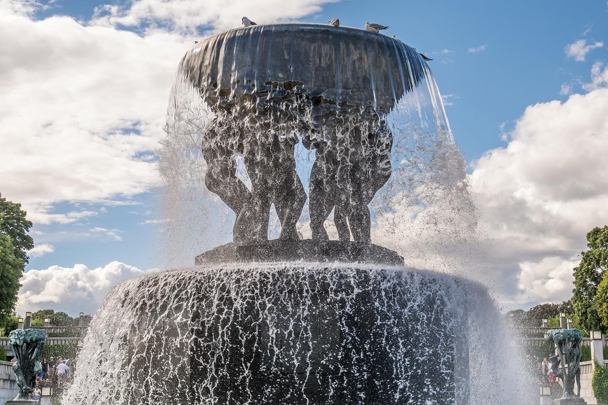 Vigeland Sculpture in Frogner Park in Oslo