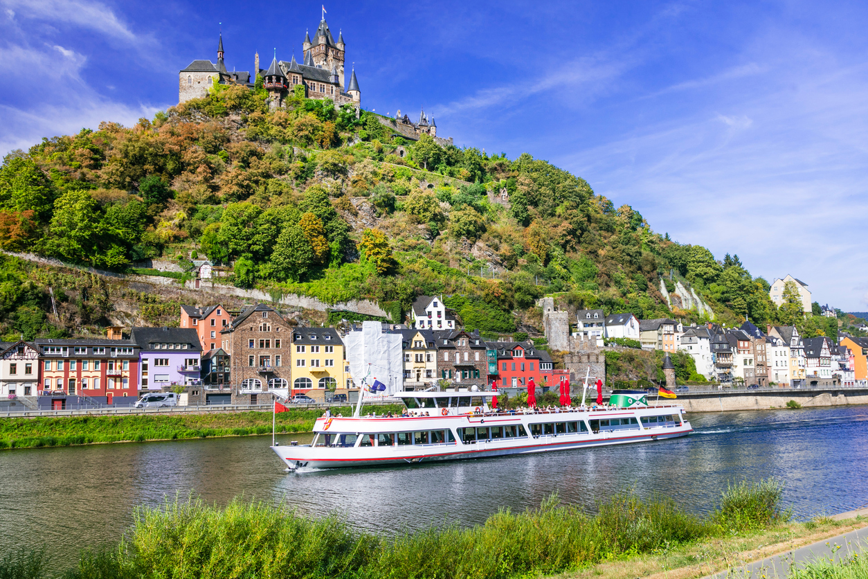 Beautiful medieval Cochem town over Rhein,Germany.