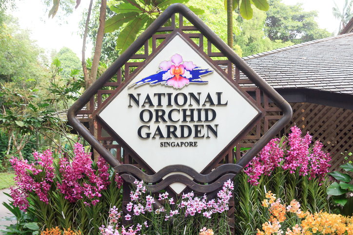 Singapore national orchid garden sign