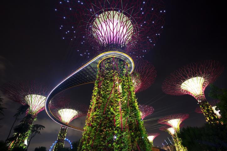 Singapore. Futuristic gardens