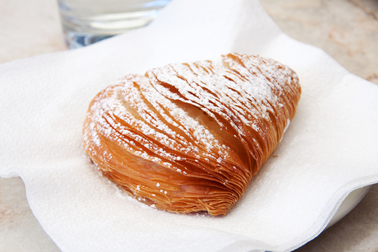 Sfogliatella, typical italian cake from Naples
