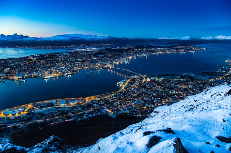 Panoramic view of Tromso, Norway