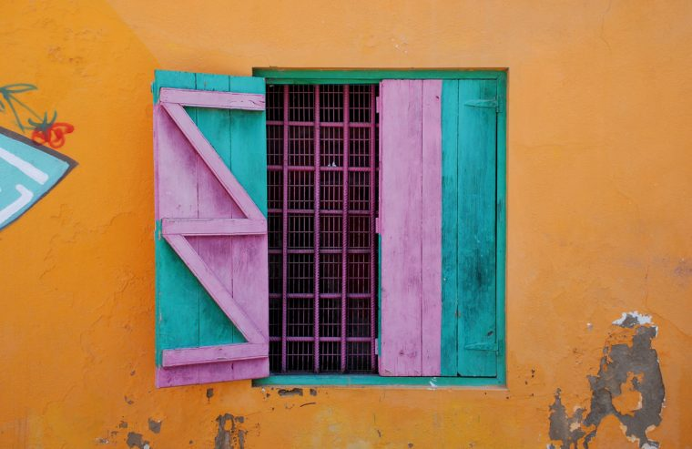 Colorful window, Barbados
